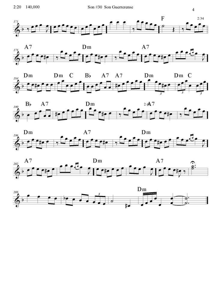 Son #30 Son Guerrerense 4 site corrected Nov 6, 2014 - Violin_Page_4